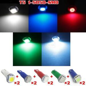 10x T5 Ice Blue White Red Blue Green Led Dash Instrument Panel Speedometer Bulbs