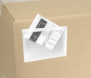 5 5x7 5 Clear Packing List Invoice Envelopes 1000 Qty 2 5 Mil 5x7