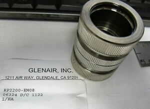 1 Stainless Conduit Compression Coupling Union Glenair Rp2200 em08