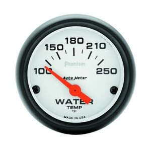Auto Meter Phantom 52mm 100 250 Deg F Electronic Water Temp Gauge