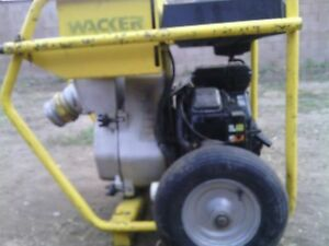 Wacker Pts 4v 4in 100mm Centrifugal Trash Pump Gas Powered 16 Hp