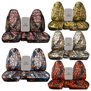 Pink Gray Tree Camo Car Seat Covers 60 40 Highback Seat For 91 97 Ford Ranger
