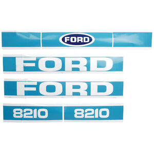 Ford Tractor Hood Decal Set 8210