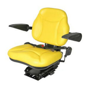 Heavy Duty Yellow Seat With Suspension Armrests For John Deere