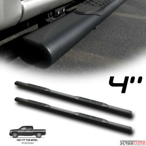 4 Matte Black Oval Side Step Nerf Bars Running Boards 01 18 Silverado Crew Cab