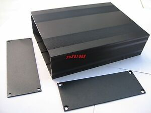 Diy Black Aluminum Project Shell Electronic Enclosure Case Box 200x145x68mm_ Big