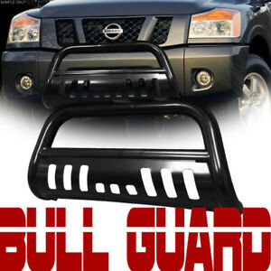 Black Heavyduty Bull Bar Bumper Grill Grille Guard Skid For 05 15 Toyota Tacoma