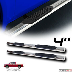 4 Oval Chrome Stainless Side Step Bars Running Boards 02 09 Dodge Ram Quad Crew