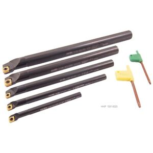5 Piece Sclcr Indexable Boring Bar Set 5 16 3 8 1 2 5 8 3 4 1001 0023