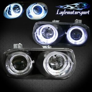 led Halo 1994 1995 1996 1997 Acura Integra Projector Headlights Pair