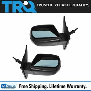 Mirror Manual Remote Tint Blue Lh Driver Rh Passenger 06 09 Pair For Kia Rio