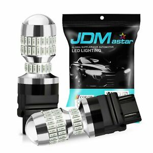 Jdm Astar 2x50w Cree 3156 3157 Bright Red 12v Led Car Brake Tail Stop Light Bulb