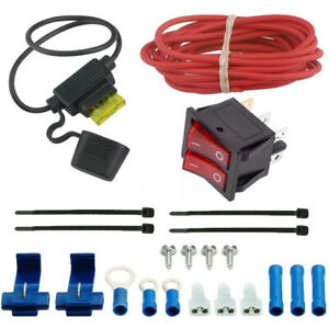 Dual Electric Radiator Fan 12v Toggle Rocker Switch Full Wiring Kit Chevy Ford