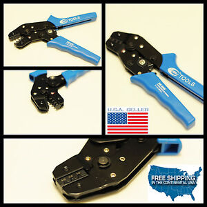 Molex Crimping Tool Pliers Clamp Pressed Non insulated Terminal Pins Awg 28 18