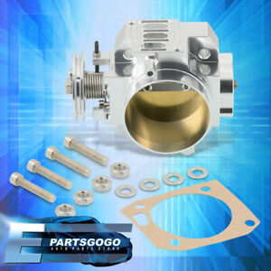 For K20 K20a2 Engine 70mm Intake Manifold Throttle Body Plate Assembly Silver