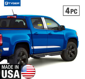 Tyger For 2013 2018 Chevy Colorado Crew Cab 4pc Stainless Steel Pillar Post Trim