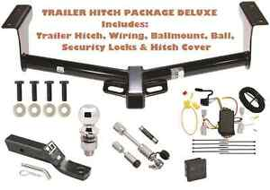 Trailer Tow Hitch Pkg Deluxe Fits 06 12 Toyota Rav4 Wiring Hitch Locks Cover