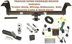 11 17 Dodge Grand Caravan Tow Hitch Pkg Deluxe W Wiring Hitch Locks