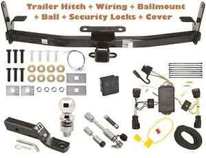 10 15 Chevy Equinox Trailer Tow Hitch Pkg Deluxe W Wiring Hitch Locks