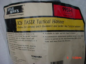 Uncle Mike s Dual Retention Tactical X26 Taser Holster 9951 1 Right Hand