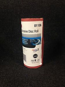 3m 01106 6 600 Grit Stick It Adhesive Back Disc Sandpaper 100 Sheets Per Roll