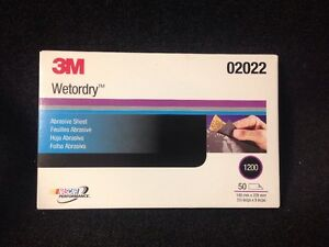 3m 1200 Grit Wet Or Dry Black Sandpaper 5 5 x 9 Sanding sheet 50 box 3m 02022