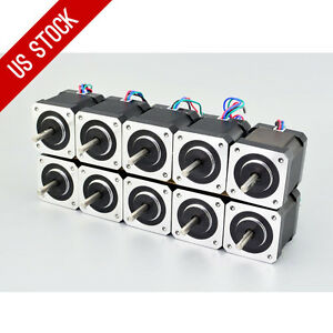 Us Ship 10pcs Nema 17 Stepper Motor Bipolar 84oz in 59ncm 4 lead 3d Printer Cnc