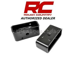 Rough Country 2 Single Pin Universal Fit Rear Lift Blocks Pair 6592