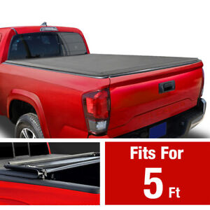 For 2005 2015 Toyota Tacoma 5ft Bed Premium Tri fold Tonneau Cover