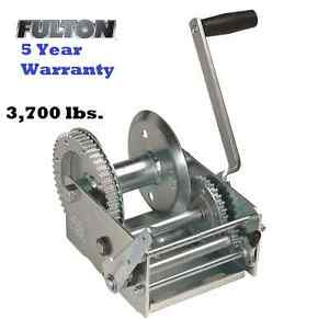 Fulton 2 Speed Trailer Winch 3700 Lb W Brake Z Max 600 Zinc Cable Use Boat Bulk
