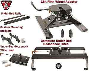 Bulldog Underbed Gooseneck Trailer Hitch 18k 5th Wheel Adapter 03 12 Dodge Ram