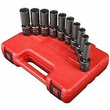 Sunex 3660 10 Piece 3 8 Drive Universal Deep Swivel Impact Socket Set 10 19mm
