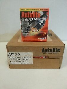 Autolite Spark Plugs Ar72 Racing Spark Plugs case Of 48 Plugs