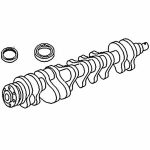 31315884 Tractor Crankshaft With Rope Seal Fits Mf 715b C300 50c 165