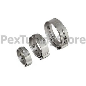 100 1 2 Pex Grip non slip Stainless Steel Cinch Clamps Ssc By Oetiker