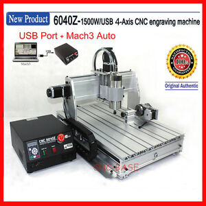 Usa usb Four 4 Axis 6040 Cnc Router 1500w Engraver Engraving Milling Machine