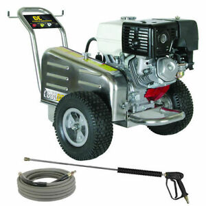 Be Belt Drive Pressure Washer Honda Gx390 4000 Psi 3 5 Gpm Comet Pump