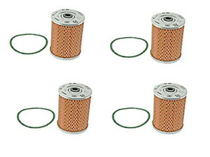 Porsche 356 912 Engine Oil Filter Kits x4 Oem Mahle Motor Lubricant Strainer