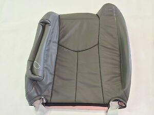 03 06tahoe Silverado Suburban Leather Driver Backrest Med Pewter Gray 922