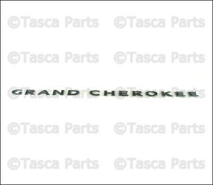 Oem Front Door Gloss Black Grand Cherokee Badge Emblem 2013 Jeep Grand Cherokee