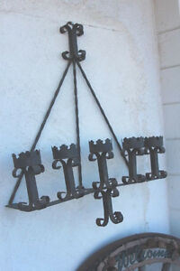 Wrought Iron Wall Candle Sconce Old And Quite Heavy