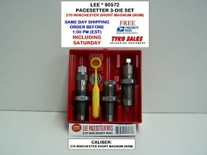 90572 * LEE PACESETTER V LTD 2-DIE SET * 270 WINCHESTER SHORT MAGNUM (WSM)