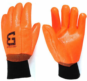 Better Grip Lined Orange Pvc Coated Work Gloves knit Wrist bg105orgkw
