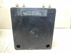 Brownell Electric Current Transformer 190x0500 Ratio 5 0 5a 600v 10kv New