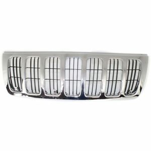 Frt Grille Chrome And Black For 99 03 Jeep Grand Cherokee Ch1200234