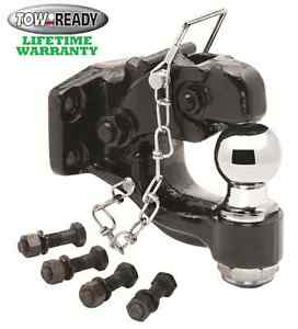 Tow Ready Pintle Hitch Hook 16000 Lbs W 2 10k Trailer Ball Grade 8 Hardware