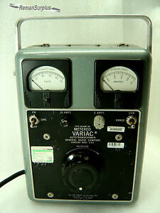 Used General Radio Type W10mt3a Metered Variac Autotransformer Tested