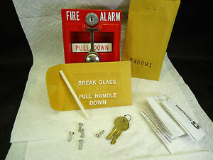 New Simplex 4251 30 Double action Break glass Fire Alarm Pull Station
