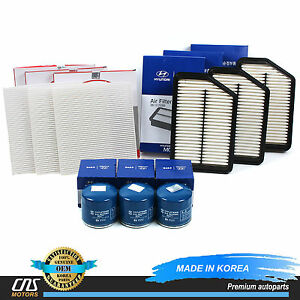 Genuine Cabin Air Filter Oil Filter Set 9pack Fits 10 14 Tucson Sportage