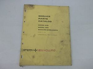 New Holland Model 346 365 Manure Spreaders Service Parts Catalog sale